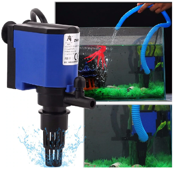 Mechanical filter keeps aquarium clean