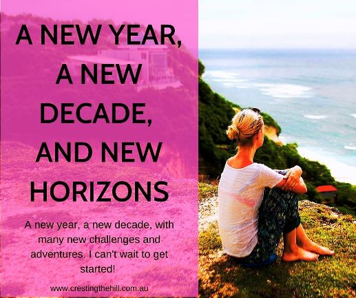 2020 brings with it so much promise - a new year, a new decade, and many new challenges and adventures. I can't wait to get started! #midlife #newhorizons