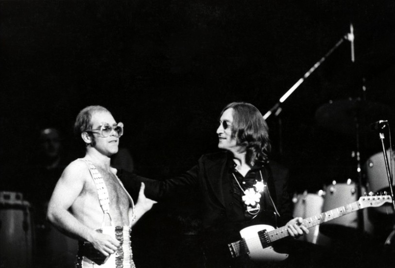 Elton John And Lennon At Madison Square Garden 1974
