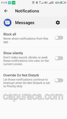Mematikan notifikasi aplikasi android