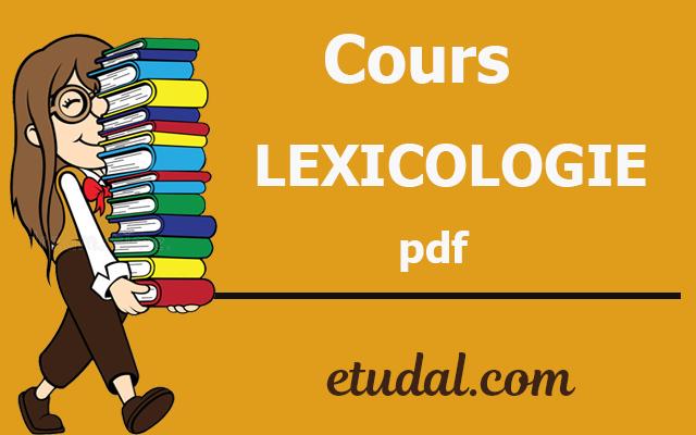 cours lexicologie s3 pdf
