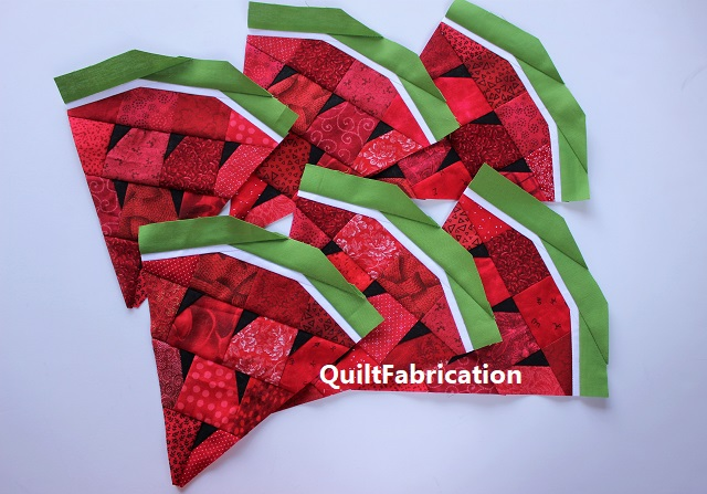 pieced watermelon wedges