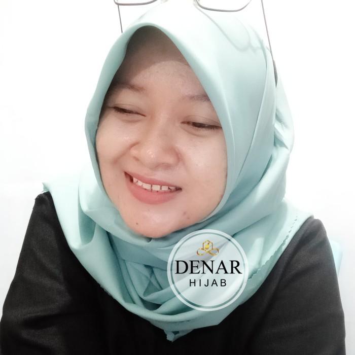 Jilbab Hijab  Segiempat Voal Miracle Waterproof Polos Premium Terbaru - light milo by Denar Hijab