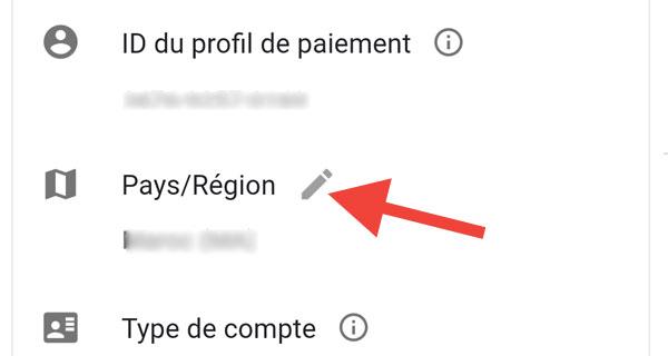 تغيير البلد في حساب جوجل
