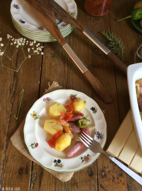 patatas-salchichas-verduras