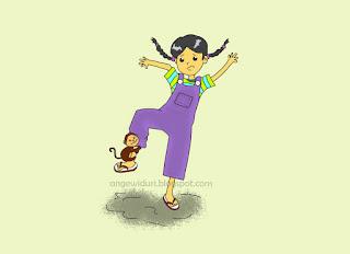 ilustrasi-fiksi-anak-monki-ngambek