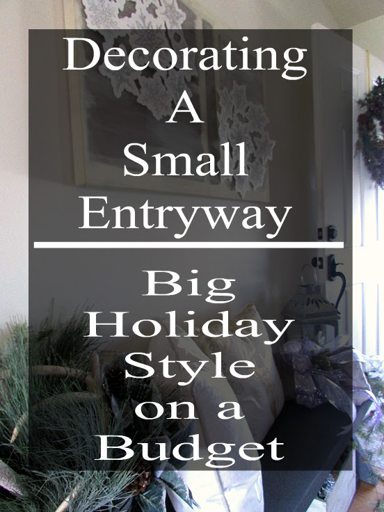 Decorating a small entryway for the christmas season on a budget.