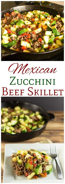 Mexican Zucchini And Beef Skillet #keto #beefrecipes #lowcarb