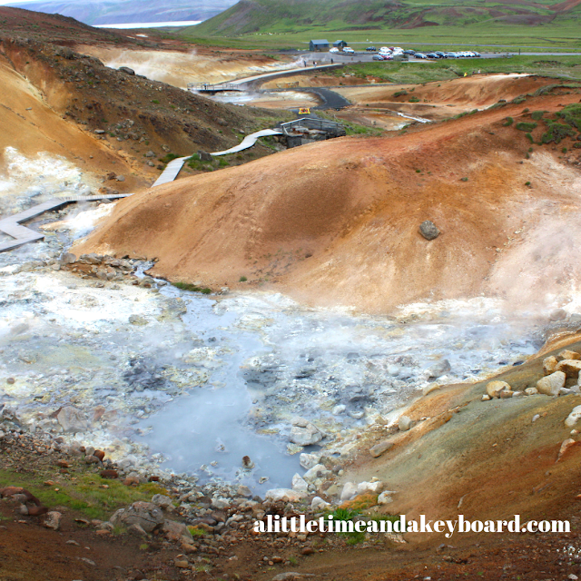 A boardwalk and overlooks give you quite the view of Seltún Geothermal Area in Iceland