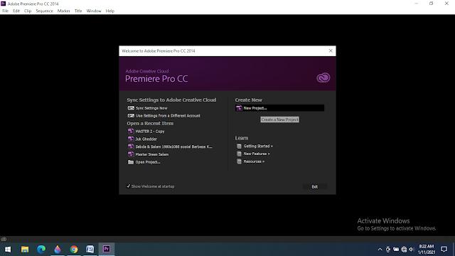 Cara Memulai Menggunakan Adobe Premiere Pro CC 2014