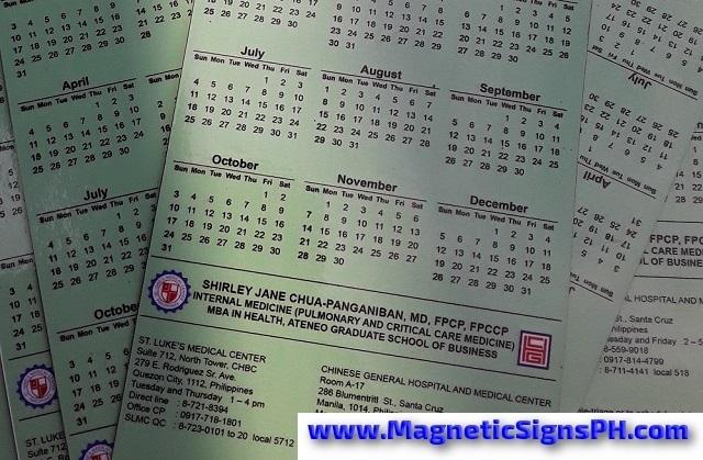 Custom Calendar Magnets Philippines