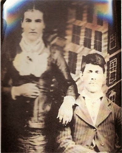 Polly Jane Frazier and Elvis Sturdivant Shiflett  http://jollettetc.blogspot.com