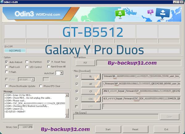سوفت وير هاتف Galaxy Y Pro Duos موديل GT-B5512 روم الاصلاح 4 ملفات تحميل مباشر