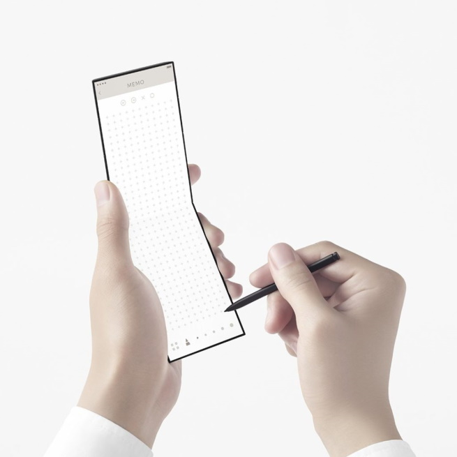 Oppo new concept phone bends triple pen