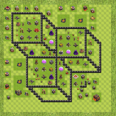 War Base Town Hall Level 10 By legionxix (m1 TH 10 Layout)