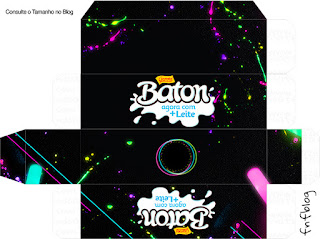Cajas de Fiesta Neón para imprimir gratis.