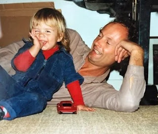 Katja Herbers' childhood picture with her dad Werner