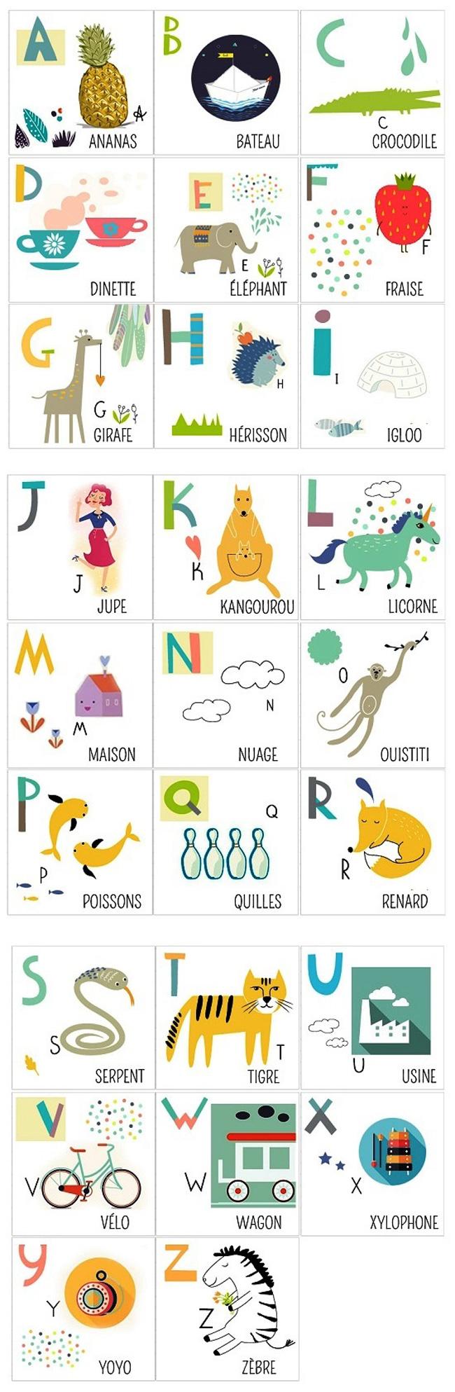 Alfabet - słownictwo 7 - Francuski przy kawie