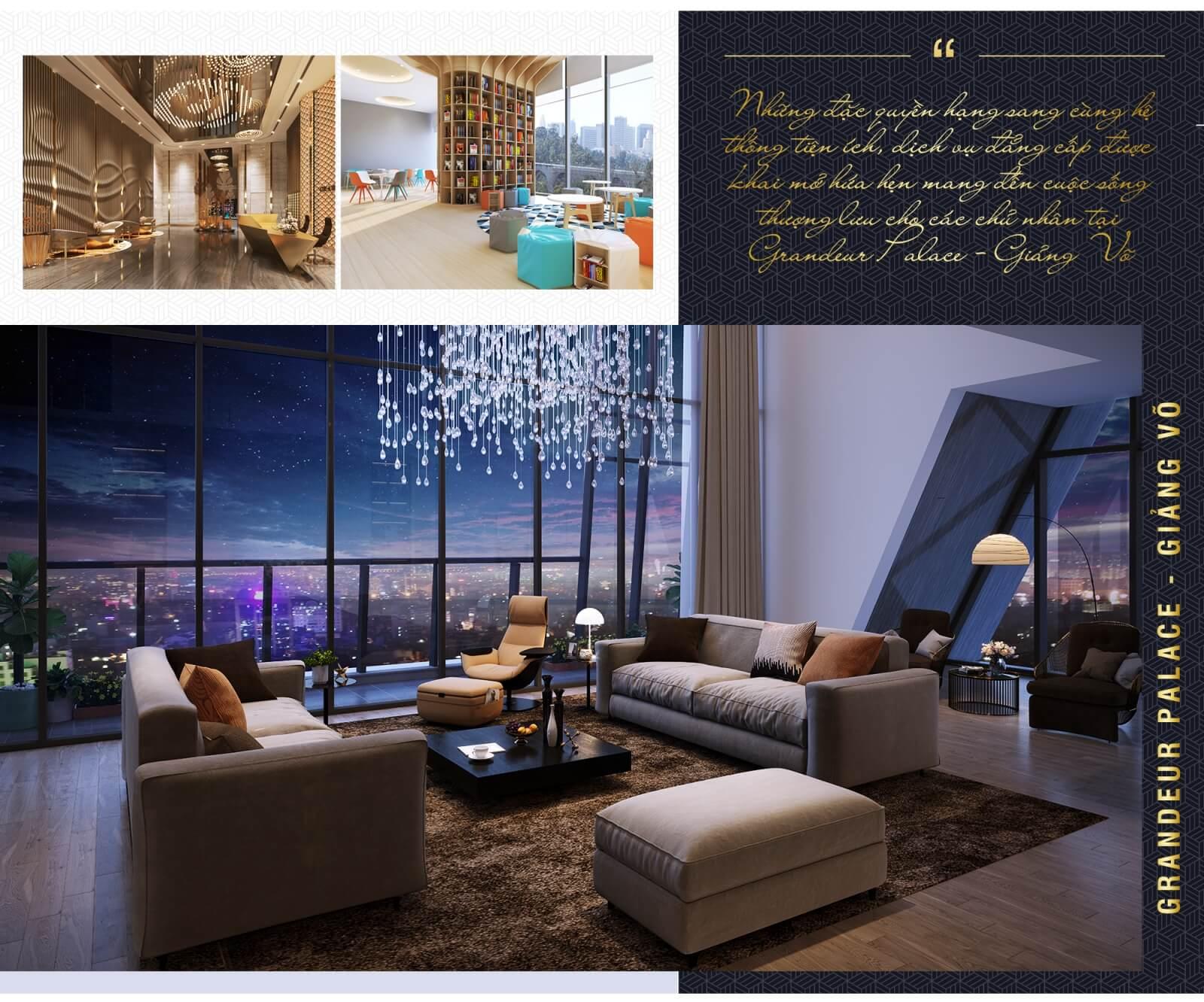 Đặc quyền sở hữu căn hộ Grandeur Palace Giảng Võ