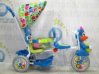 Sepeda Roda Tiga Royal RY8598CJ Baby Ball 2 Kursi Dobel Musik Jok Kain
