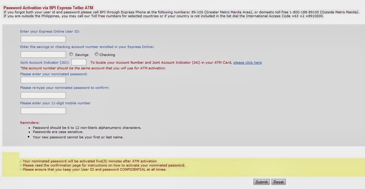 Reset Password with BPI Express Online | Helpful Tips and Tricks
