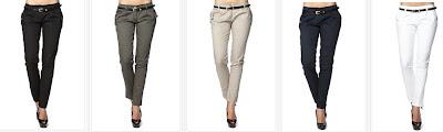 Algunos de los pantalones en oferta y sus colores
