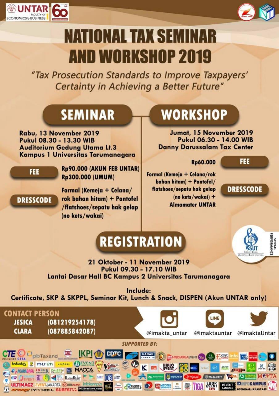 Universitas Tarumanegara - National Tax Seminar And Workshop 2019