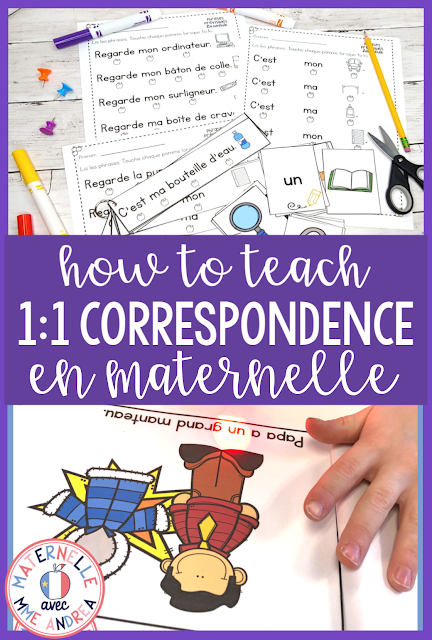 Your maternelle students still looking at the sky when they read, and rushing through their French levelled readers? Teach them to slow down and develop their correspondance mot à mot with the tips from this blog post!