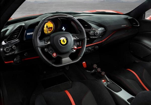 Interior Ferrari 488 Pista