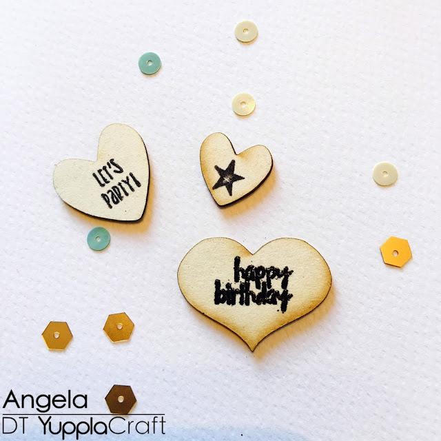Happy Birthday Card by Angela Tombari for YupplaCraft