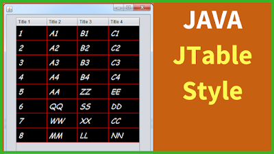 JTable Style In Java