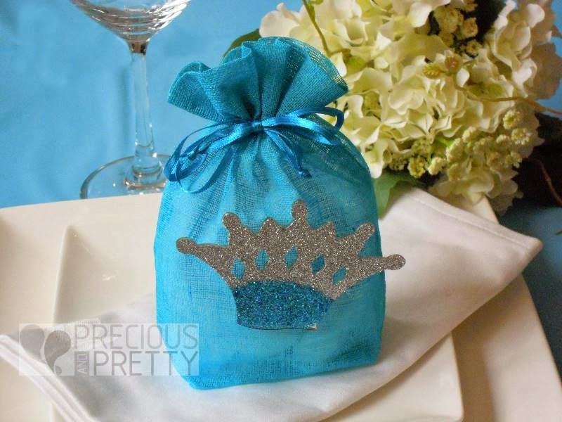 Christening crown favor bags