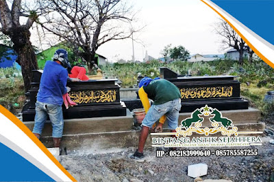 Makam Batu Alam | Makam Dengan Batu Granit | Contoh Makam Dari Batu Alam