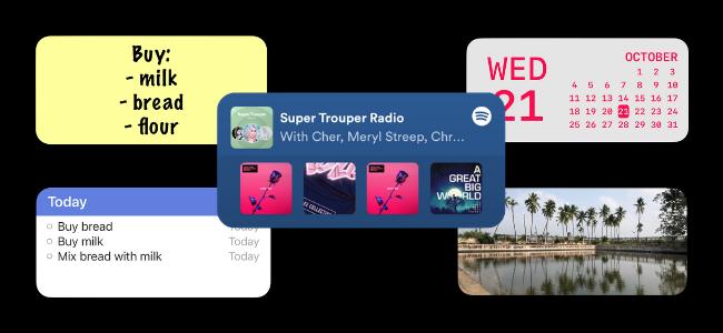 خمس تطبيقات مصغرة لشاشة iPhone الرئيسية.