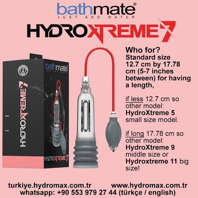 Bathmate Hydroxtreme 7 standart penis pump size chart.
