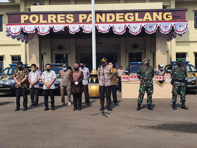 Baksos Polres Pandeglang Kepada Warakawuri dan Purnawirawan Polri, Menyambut Hari Bhayangkara Ke 74