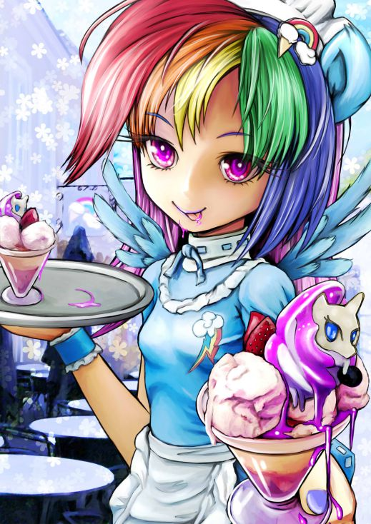 The Forgotten Verses of MLP Rainbow Human Waiter and Rarity