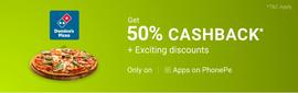 PhonePe Offer- 50% Cashback On Pizza Order
