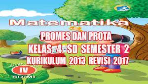 Program Semester dan Tahunan Matematika Kelas 4 SD Semester 2 Kurikulum 2013 Rev 2017