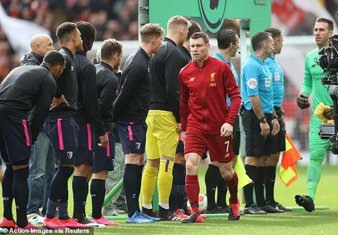 Liverpool & Bournemouth players mocked for walking by others after handshake ban