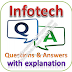 Infotech Written Test: Aptitude, Reasoning, English; Questions and Answers with Explanations