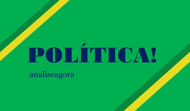 A imagem nas cores do Brasil diz: política!