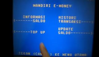 Cara Isi Ulang e-mOney Lewat ATM Mandiri