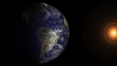 The vernal equinox, captured by the GOES satellite (NASA)