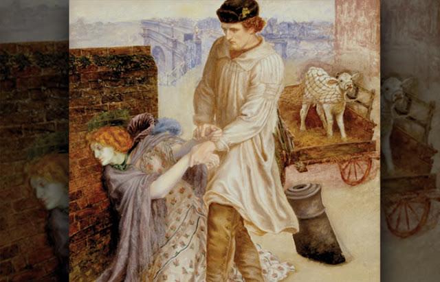 Dante Gabriel Rossetti pintura Encontrada