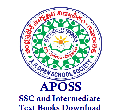 APOSS Andhra Pradesh Open School Society SSC and Intermediate Text Books Download
