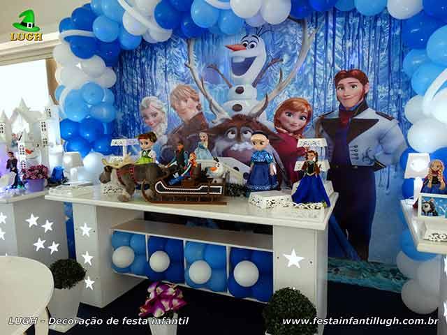 Decoração festa de aniversário Frozen - Festa feminina