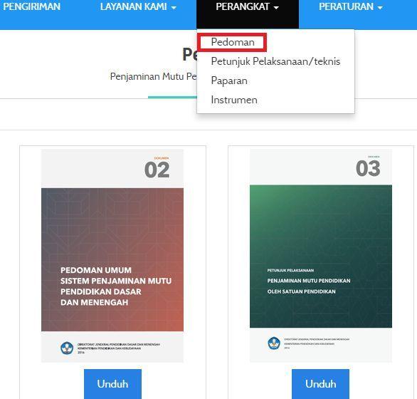 gambar menu perangkat ajaran PMP kemdikbud