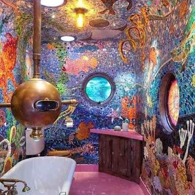 kamar mandi mungil modern