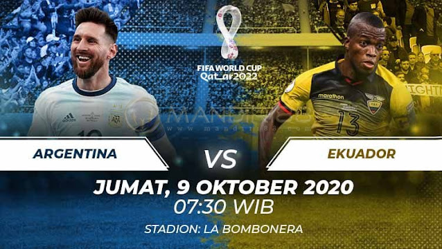 Prediksi Argentina Vs Ekuador, Jumat 09 Oktober 2020 Pukul 07.30 WIB @ Mola TV